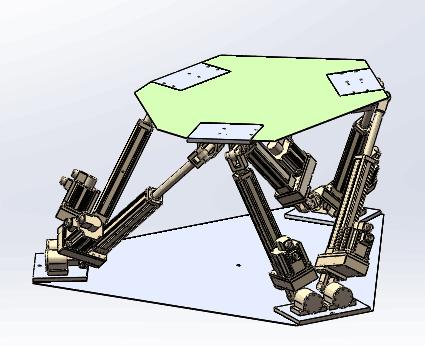 KT六自由度平台带三维模型(图纸)加工